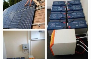 Backup Battery Installation for Solar Panel